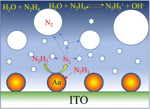 hydrazine anodization at Au nanoparticle